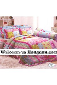 ชุดเครื่องนอน ผ้าห่มนวม ชุดผ้าปูที่นอนทิวลิป 629