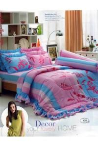 ชุดเครื่องนอน ผ้าห่มนวม ชุดผ้าปูที่นอนทิวลิป 630