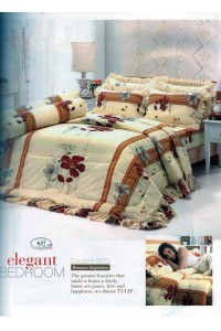 ชุดเครื่องนอน ผ้าห่มนวม ชุดผ้าปูที่นอนทิวลิป 637