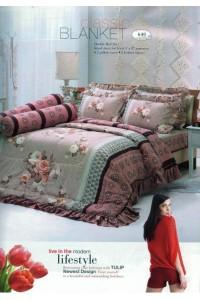 ชุดเครื่องนอน ผ้าห่มนวม ชุดผ้าปูที่นอนทิวลิป 640