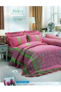 ชุดเครื่องนอน ผ้าห่มนวม ชุดผ้าปูที่นอนทิวลิป 643