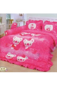 ชุดเครื่องนอน ผ้าห่มนวม ชุดผ้าปูที่นอนทิวลิป ลายการ์ตูน A77 (Cartoon Fancy Mix)