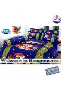 ชุดเครื่องนอน ผ้าห่มนวม ชุดผ้าปูที่นอนทิวลิป ลายการ์ตูน A86 (Cartoon Fancy Mix)