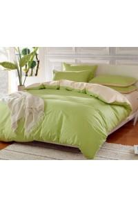ชุดเครื่องนอน คอตตอน100 ผ้าปูที่นอน สีพื้น ทูโทน PA001