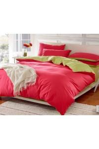 ชุดเครื่องนอน คอตตอน100 ผ้าปูที่นอน สีพื้น ทูโทน PA002