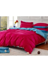 ชุดเครื่องนอน คอตตอน100 ผ้าปูที่นอน สีพื้น ทูโทน PA006
