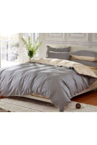 ชุดเครื่องนอน คอตตอน100 ผ้าปูที่นอน สีพื้น ทูโทน PA007