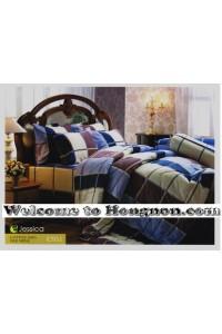 ชุดเครื่องนอน ผ้าห่มนวม ชุดผ้าปูที่นอนเจสสิก้า C951 (คอตตอน 100%)