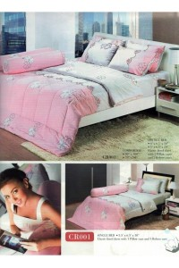 ชุดเครื่องนอน ผ้าห่มนวม ชุดผ้าปูที่นอนทิวลิปคอตตอนริช CR01