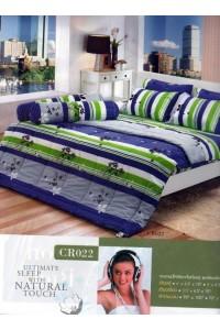 ชุดเครื่องนอน ผ้าห่มนวม ชุดผ้าปูที่นอนทิวลิปคอตตอนริช CR22