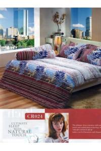 ชุดเครื่องนอน ผ้าห่มนวม ชุดผ้าปูที่นอนทิวลิปคอตตอนริช CR24