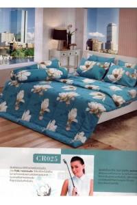 ชุดเครื่องนอน ผ้าห่มนวม ชุดผ้าปูที่นอนทิวลิปคอตตอนริช CR25
