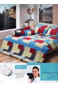 ชุดเครื่องนอน ผ้าห่มนวม ชุดผ้าปูที่นอนทิวลิปคอตตอนริช CR27