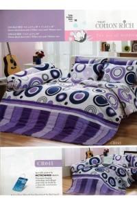ชุดเครื่องนอน ผ้าห่มนวม ชุดผ้าปูที่นอนทิวลิปคอตตอนริช CR41