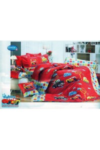 ชุดเครื่องนอน ผ้าห่มนวม ชุดผ้าปูที่นอนทิวลิป ลายการ์ตูน D016 (แมคควีน Mcqueen)