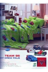ชุดเครื่องนอน ผ้าห่มนวม ชุดผ้าปูที่นอนทิวลิป ลายการ์ตูน D017 (แมคควีน Mcqueen)