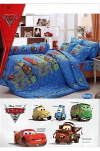 ชุดเครื่องนอน ผ้าห่มนวม ชุดผ้าปูที่นอนทิวลิป ลายการ์ตูน D018 (แมคควีน Mcqueen)