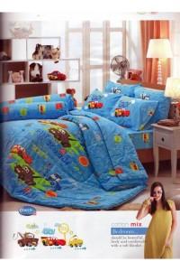ชุดเครื่องนอน ผ้าห่มนวม ชุดผ้าปูที่นอนทิวลิป ลายการ์ตูน D019 (แมคควีน Mcqueen)