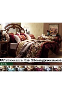 ชุดเครื่องนอน ผ้าห่มนวม ชุดผ้าปูที่นอนเจสสิก้า C937 (คอตตอน 100%)