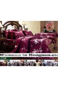 ชุดเครื่องนอน ผ้าห่มนวม ชุดผ้าปูที่นอนเจสสิก้า C938 (คอตตอน 100%)