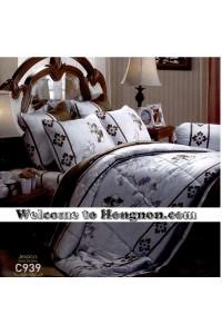 ชุดเครื่องนอน ผ้าห่มนวม ชุดผ้าปูที่นอนเจสสิก้า C939 (คอตตอน 100%)