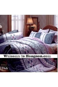 ชุดเครื่องนอน ผ้าห่มนวม ชุดผ้าปูที่นอนเจสสิก้า C946 (คอตตอน 100%)