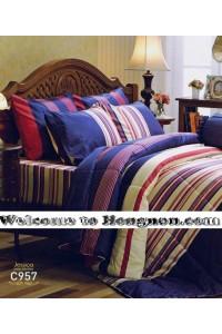 ชุดเครื่องนอน ผ้าห่มนวม ชุดผ้าปูที่นอนเจสสิก้า C957 (คอตตอน 100%)