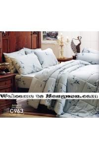 ชุดเครื่องนอน ผ้าห่มนวม ชุดผ้าปูที่นอนเจสสิก้า C963 (คอตตอน 100%)