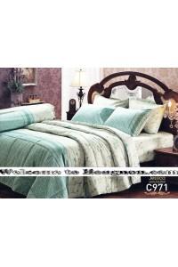 ชุดเครื่องนอน ผ้าห่มนวม ชุดผ้าปูที่นอนเจสสิก้า C971 (คอตตอน 100%)