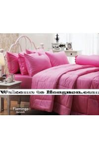 ชุดเครื่องนอน ผ้าห่มนวม ชุดผ้าปูที่นอนเจสสิก้า flamingo (คอตตอน 100%)