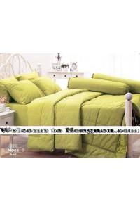 ชุดเครื่องนอน ผ้าห่มนวม ชุดผ้าปูที่นอนเจสสิก้า moss (คอตตอน 100%)
