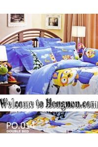 ชุดเครื่องนอน ผ้าห่มนวม ชุดผ้าปูที่นอนเจสสิก้า ลายการ์ตูน PORORO โพโรโระ PO.014