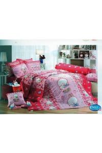 ชุดเครื่องนอน ผ้าห่มนวม ชุดผ้าปูที่นอนทิวลิป ลายการ์ตูน M12 (Mashimaro)