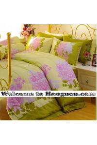 ชุดเครื่องนอน ผ้าห่มนวม ชุดผ้าปูที่นอนซาติน Premier P090