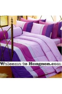 ชุดเครื่องนอน ผ้าห่มนวม ชุดผ้าปูที่นอนซาติน Premier P091