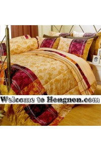 ชุดเครื่องนอน ผ้าห่มนวม ชุดผ้าปูที่นอนซาติน Premier P095