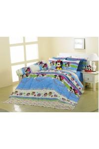 ชุดเครื่องนอน ผ้าห่มนวม ชุดผ้าปูที่นอนซาติน Premier ลายการ์ตูนลิขสิทธิ์ PK001 (Mickey Mouse)