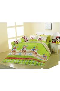 ชุดเครื่องนอน ผ้าห่มนวม ชุดผ้าปูที่นอนซาติน Premier ลายการ์ตูนลิขสิทธิ์ PK003 (Mickey Mouse)