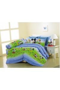 ชุดเครื่องนอน ผ้าห่มนวม ชุดผ้าปูที่นอนซาติน Premier ลายการ์ตูนลิขสิทธิ์ PK006 (Mickey Mouse)