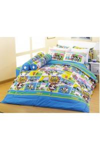 ชุดเครื่องนอน ผ้าห่มนวม ชุดผ้าปูที่นอนซาติน Premier ลายการ์ตูนลิขสิทธิ์ PK009 (PowerPuff Girls)