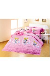 ชุดเครื่องนอน ผ้าห่มนวม ชุดผ้าปูที่นอนซาติน Premier ลายการ์ตูนลิขสิทธิ์ PK010 (PowerPuff Girls Z)