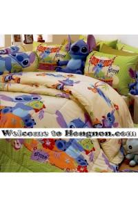 ชุดเครื่องนอน ผ้าห่มนวม ชุดผ้าปูที่นอนซาตินลายลายการ์ตูน Premier PK012