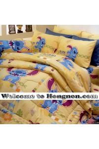 ชุดเครื่องนอน ผ้าห่มนวม ชุดผ้าปูที่นอนซาตินลายลายการ์ตูน Premier PK014