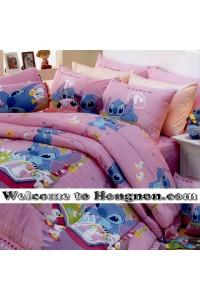 ชุดเครื่องนอน ผ้าห่มนวม ชุดผ้าปูที่นอนซาตินลายลายการ์ตูน Premier PK016