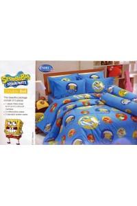 ชุดเครื่องนอน ผ้าห่มนวม ชุดผ้าปูที่นอนทิวลิป ลายการ์ตูน S001 (Sponge Bob)