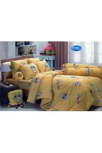 ชุดเครื่องนอน ผ้าห่มนวม ชุดผ้าปูที่นอนทิวลิป ลายการ์ตูน S002 (Sponge Bob)
