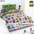 ชุดเครื่องนอน ผ้าห่มนวม ชุดผ้าปูที่นอนโตโต้ ลายการ์ตูนลิขสิทธิ์ เบ็นเท็น BEN10 BA04