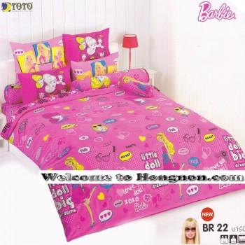 ชุดเครื่องนอน ผ้าห่มนวม ชุดผ้าปูที่นอนโตโต้ ลายการ์ตูนลิขสิทธิ์ ลิตเติ้ล บาร์บี้ Barbie BR22