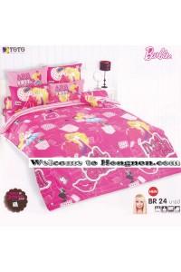 ชุดเครื่องนอน ผ้าห่มนวม ชุดผ้าปูที่นอนโตโต้ ลายการ์ตูนลิขสิทธิ์ ลิตเติ้ล บาร์บี้ Barbie BR24