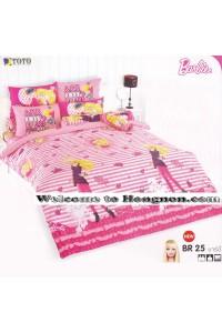 ชุดเครื่องนอน ผ้าห่มนวม ชุดผ้าปูที่นอนโตโต้ ลายการ์ตูนลิขสิทธิ์ ลิตเติ้ล บาร์บี้ Barbie BR25